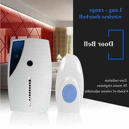 Wireless Door Bell 36 CHIME Home Cordless Portable 20M Range