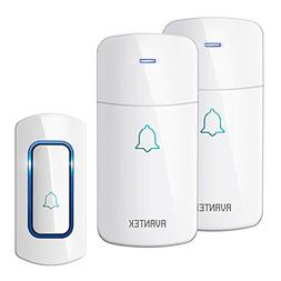 Wireless Door Bell, AVANTEK Waterpoof Doorbell Chime Operati