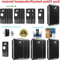 1byone 5X Wireless Door Bell Chime LED Doorbell Waterproof B