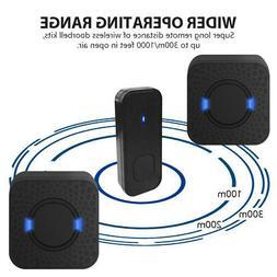 Wireless Door Bell Doorbell Waterproof Wall Plug In Loud Chi