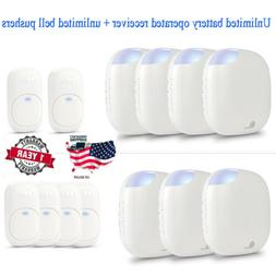 1byone Wireless Door Bell Kit Battery Operated Receiver + Tr