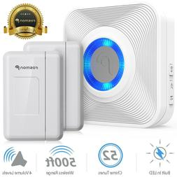 Fosmon Wireless Door Open Chime with 1 Receiver