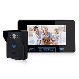 2.4G Wireless Video Door Phone Doorbell Intercom System 7-in