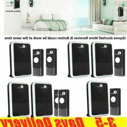 1Byone Wireless Doorbell 1000ft Door Bell Receiver DIY Chime