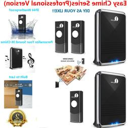 1byone Wireless Doorbell 1000ft Twin Type Push Button Batter