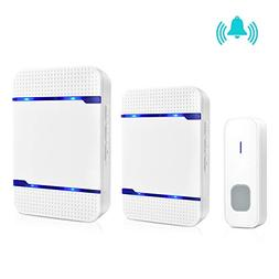 Wireless Doorbell,Waterproof Door Bell Chimes & Kit for Home