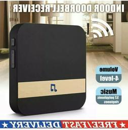 Wireless Doorbell 500Ft 52 Chimes 2 Plug in Receiver 2 Batte