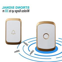 Dreamyth Wireless Doorbell,Wireless Remote Control Chime Doo