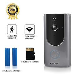 Wireless Video Doorbell Camera, WiFi Smart Video Doorbell HD
