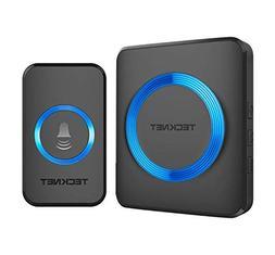 Wireless Doorbell, TeckNet Waterproof Door Bell Chime Kit Op