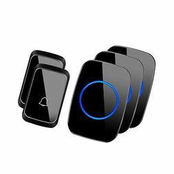 Wireless Doorbell, CACAZI A60 Waterproof Door Chime Kit Incl