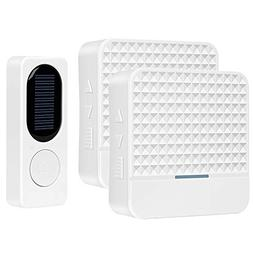 Wireless Doorbell, Waterproof Wireless Door Bell, Solar Pane