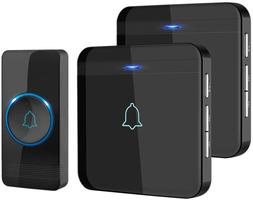 Wireless Doorbell And Waterproof Chime Kit Operating With 2