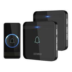 Wireless Doorbell, AVANTEK D-3B IP55 Door Bells Chime Kit wi