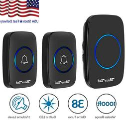 Wireless Doorbell Battery Operated  2 Remote Button+1 Plug i