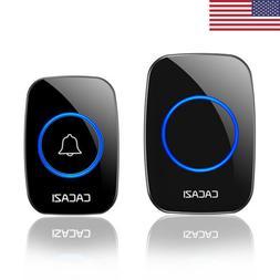 Wireless Doorbell Battery Operated Door Bell 1 Transmitter+1