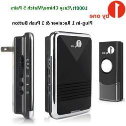 1byone Wireless Doorbell Battery Operated Door Bell 1 Button