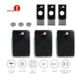 1Byone Wireless Doorbell Battery Operated Door Bell 3 Remote