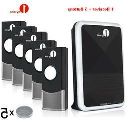 1Byone Wireless Doorbell Battery Operated Door Bell 5 Remote