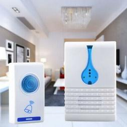 Wireless Doorbell Battery Operated Door Bell  with LED Flash