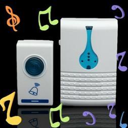 Wireless Doorbell Battery Operated Door Bell Flash 32 Chime