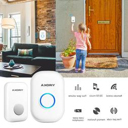 Wireless Doorbell Battery Operated Door Bell Remote Button +
