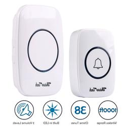 Wireless Doorbell Battery Operated Remote Button Transmitter