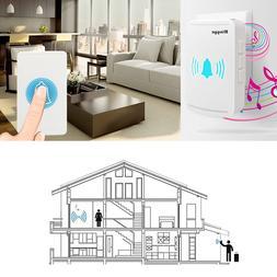 wireless doorbell button chime waterproof digital plug
