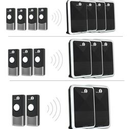 Wireless Doorbell Chime Kit Portable Receiver Button Waterpr