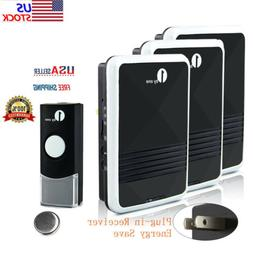 Wireless Doorbell Chime Loud Sound Portable  4 Volume 1000FT