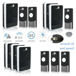 1Byone Wireless Doorbell Chime Ring 100M Blue LED 36 Tones P