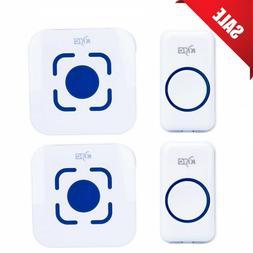 Wireless Doorbell Chime Waterproof Door Bell Plug In Receive
