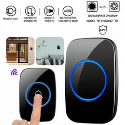 Wireless Doorbell Chime Waterproof Plugin Receiver Adjustabl