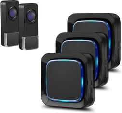 Wireless Doorbell, Coolqiya Door Bell Chimes Kit With 3 Plug