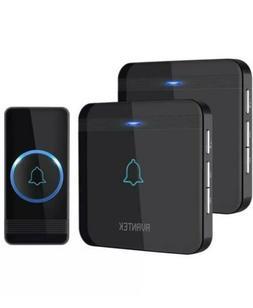 Wireless Doorbell, AVANTEK D-3B Waterproof Door 2 Receivers