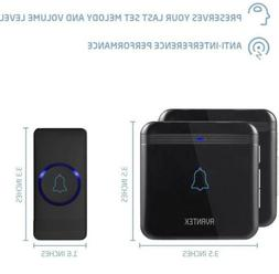 Wireless Doorbell, AVANTEK D-3B Waterproof Door Chime Kit Op