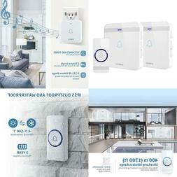 Wireless Doorbell, Avantek D-3W Waterproof Door Chime Kit Op