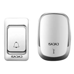Cacazi Wireless Doorbell Dc Battery Operated Control Button