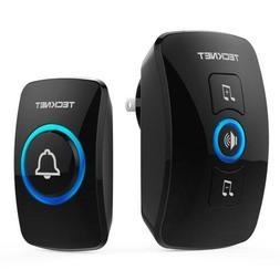 Wireless Doorbell, TeckNet Waterproof Door Bell Chime WA658,