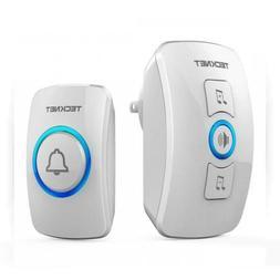 Wireless Doorbell, TeckNet Door Bell Chime Kit with LED Ligh
