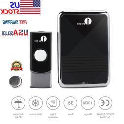 Wireless Doorbell Door Chime Kit Button Receiver Loud Sound