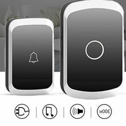 Wireless Doorbell Door Chime Kit Button Receiver Loud Sound