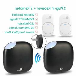 1byone Wireless Doorbell Easy Chime Waterproof Plug/Battery