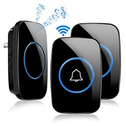 Wireless Doorbell, ELEGIANT Waterproof Door Chime Kit Operat