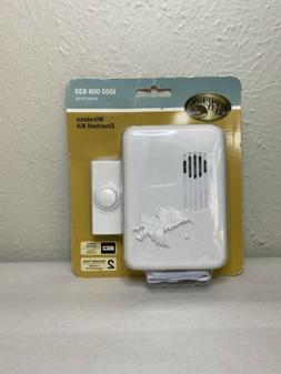 wireless doorbell kit 1003 008 633 white