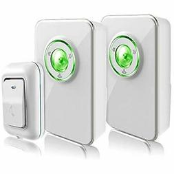 Wireless Doorbell Kit with 2 Receivers and 1 Remote Push But