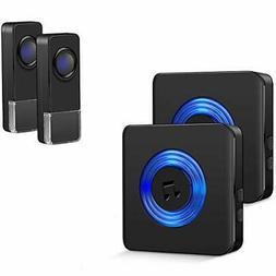 wireless doorbell kit for home 2 transmitters