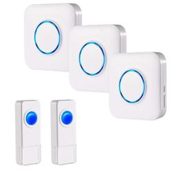 BITIWEND Wireless Doorbell Kit,Operating at 1000 Feet with 5