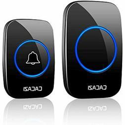 Wireless Doorbell kit, Plug-in Receiver, Waterproof Push But