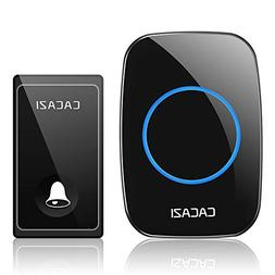 Wireless Doorbell Kit, CACAZI Smart Home Waterproof Operated
